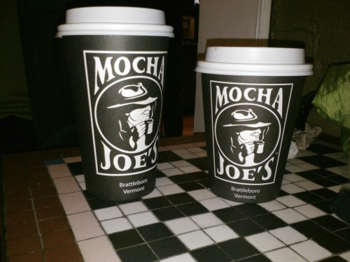 coffee cups from Mocha Joes