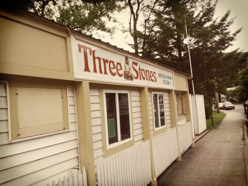 Exterior shot of Three Stones restaurant