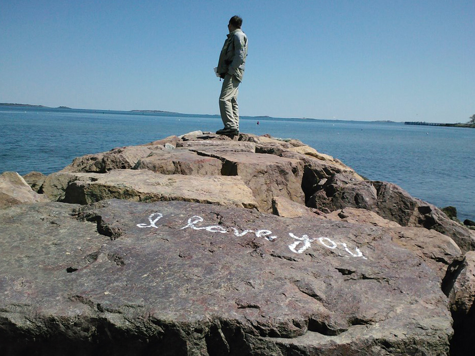 someone really must care a whole lot about this particular rock....  (Beverly, MA)